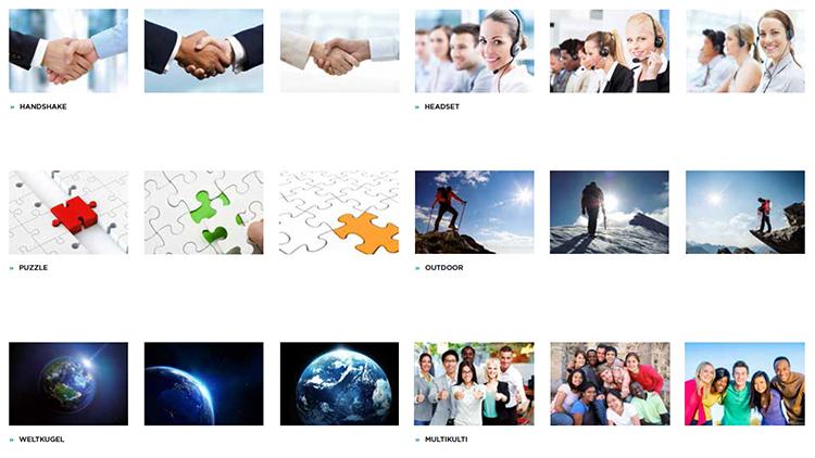 Typische austauschbare Bildinhalte und Symbole